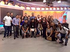 Na Rede Globo São Paulo, alunos conheceram estúdios do programa do Jô, do Altas Horas, do Domingão do Faustão, da redação do Fantástico e da redação do Profissão, além das redações e estúdios do Jornal Hoje, do Globo Esporte e da Globo News