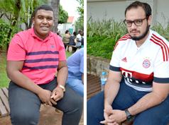 Os estudante Jonatas Cesar dos Santos Pereira, 18, e Vinícius Esgália, 22.